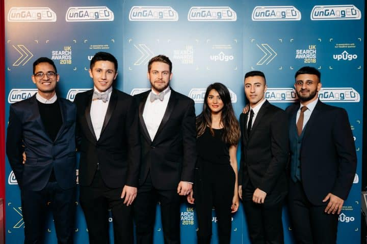 We Won Best In-House Team @ The UK Search Awards