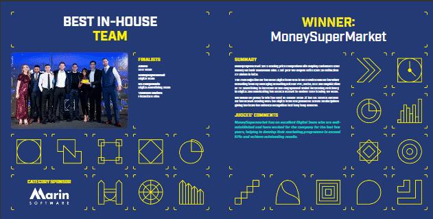 UK Search Awards - MoneySuperMarket - Best Digital Team