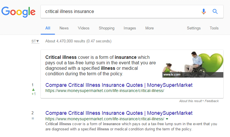 Critical Illness Insurance - Featured Snippet
