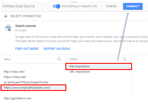 Adding Google Search Console Data