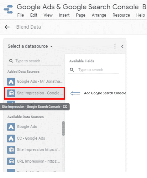 Add Search Console (blends)